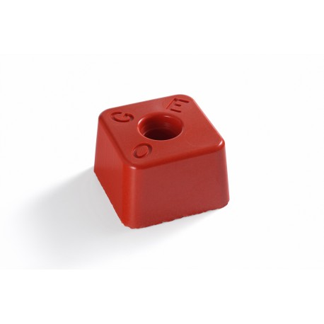 image: Petite Résineborne 85X85 mm ht 60 mm rouge OGE