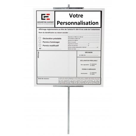 """image: PANNEAU """"DECLARATION PREALABLE réservé aux Géomètres Experts"""""""