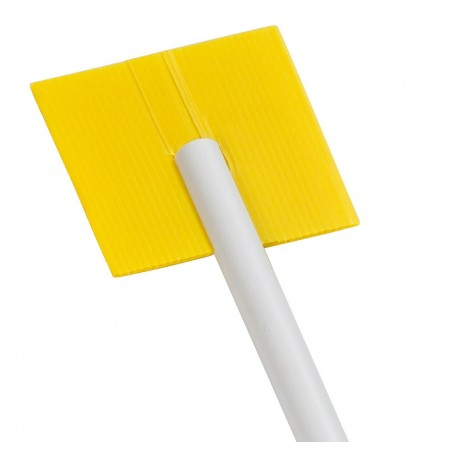 Etiquette jaune fendue
